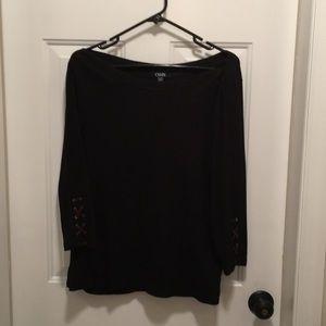 Chaps 3/4 length sleeve top